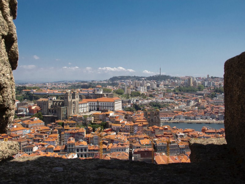 View of Porto from Clérigos Tower