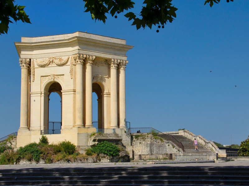 Beautiful towns in the South of France - Promenade du Peyrou and Château d'Eau in Montpellier