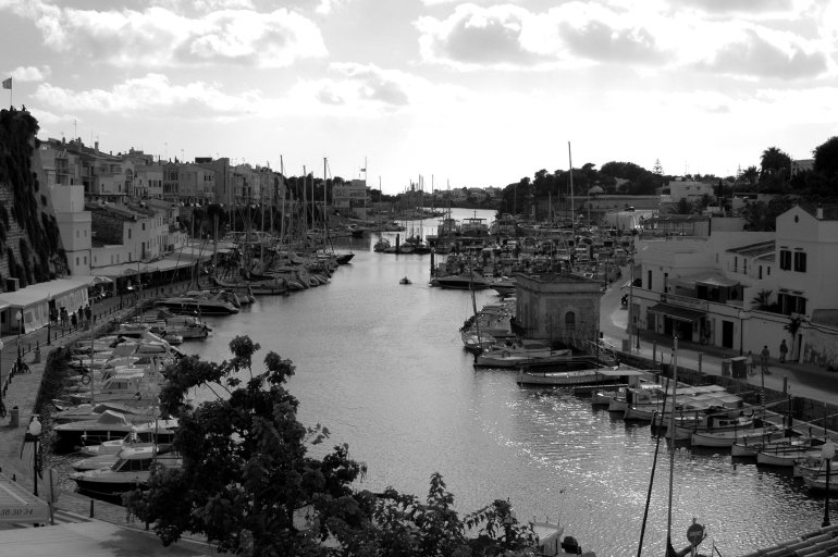 Boats in harbour in Ciutadella Menorca