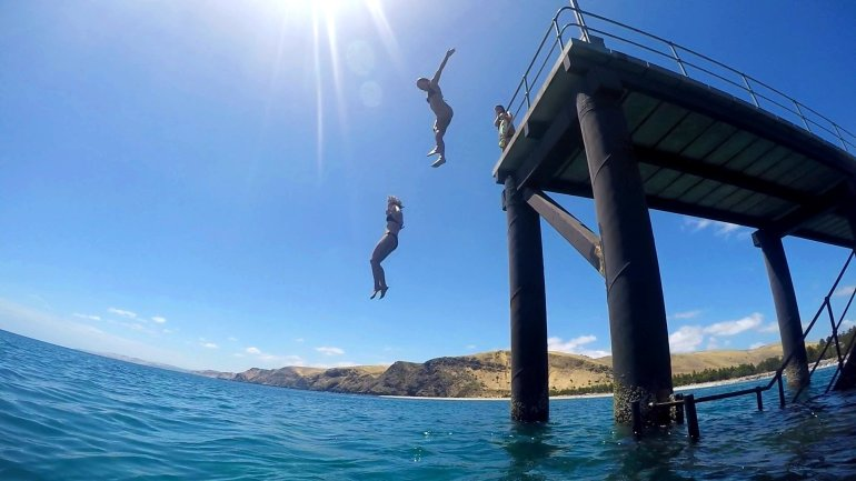 17 Easy Ways to Save Money on Travel - Jetty Jumping, Rapid Bay, South Australia