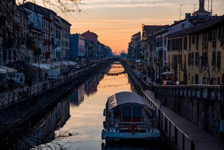 Navigli District at Sunset - Travel Notes on Milan, Italy