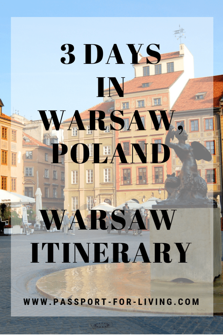 3 Days in Warsaw - A 3-Day Warsaw Itinerary #warsaw #travel #poland #wanderlust #travelideas #travelinspiration #warsawitinerary #warsawpoland #polandtravel #europetravel #europe #oldtown #travelguide #warsawtravelguide #travelblogger