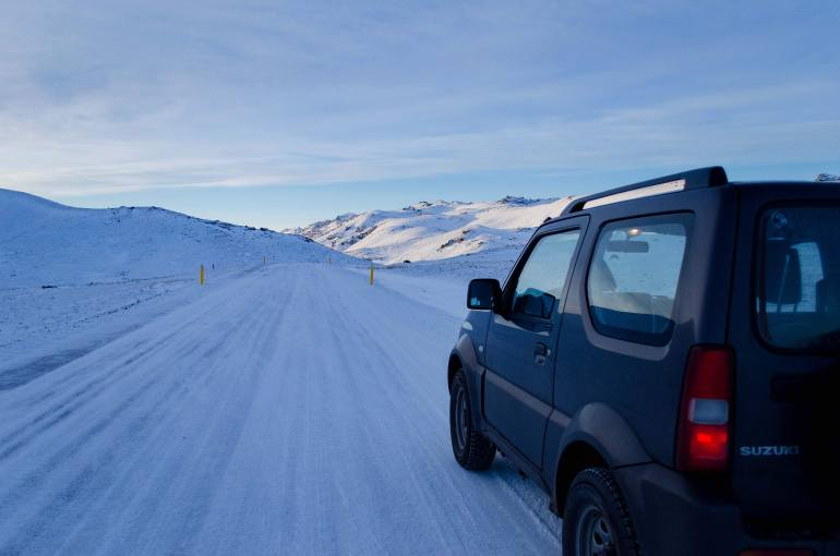 A Useful Travel Guide to Iceland - Hiring a Car in Iceland, Snowy Roads in Reykjanes GeoPark