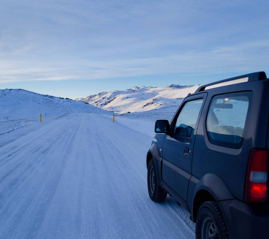 Driving in Iceland in Winter - Suzuki Jimny on Reykjanes Peninsula, Iceland
