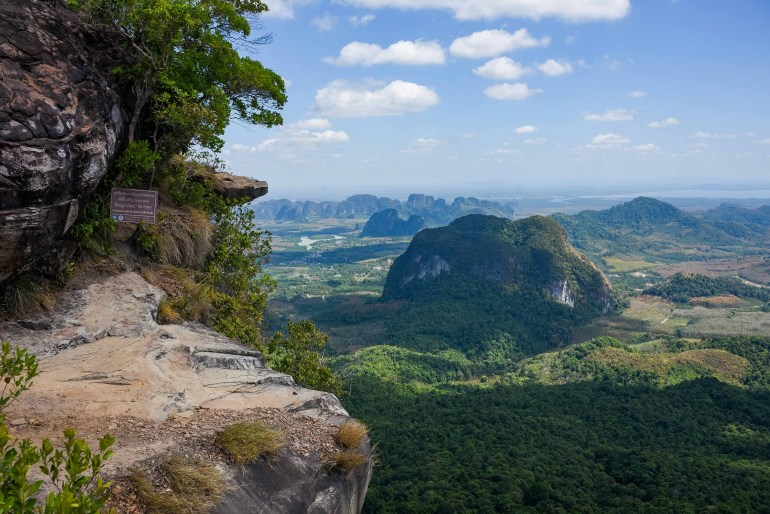 Hiking to Khao Ngon Nak Viewpoint, Krabi, Thailand