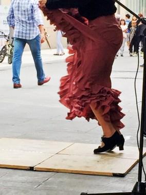 we spotted a flamenco dancer