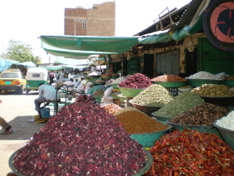 Mounds of spices