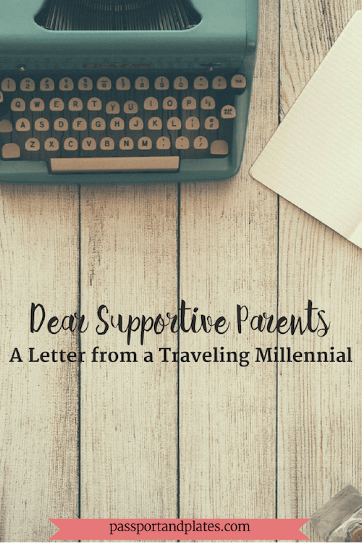 "This is a letter to (my) supportive parents and my appreciation for their support, even when we don't alway see eye to eye on what's ""best for me."" 