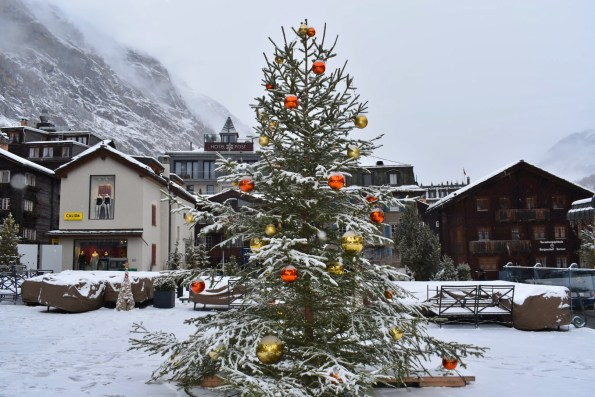 A Christmas tree in Zermatt