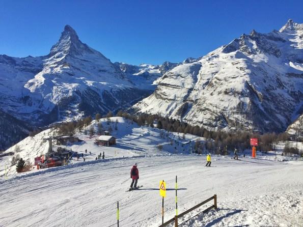Ski piste at Sunnega, Zermatt
