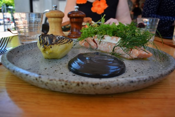 Confit salmon at Rudimentary, Melbourne