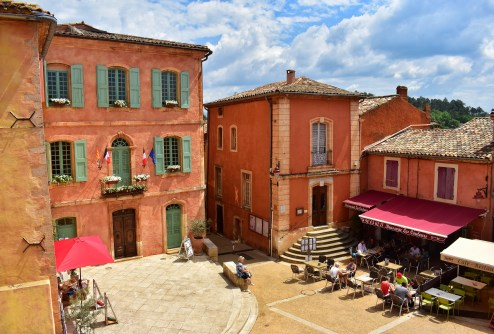 The colourful buildings in Roussillon, Luberon