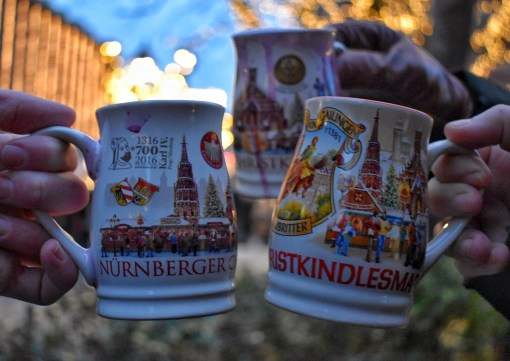 Glühwein mugs at the Nuremberg Christmas market