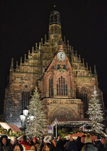 Church at the Nuremberg Christmas market