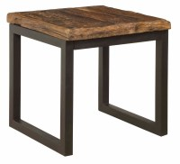 Reclaimed Railroad Wood and Iron End Table | Passport ...
