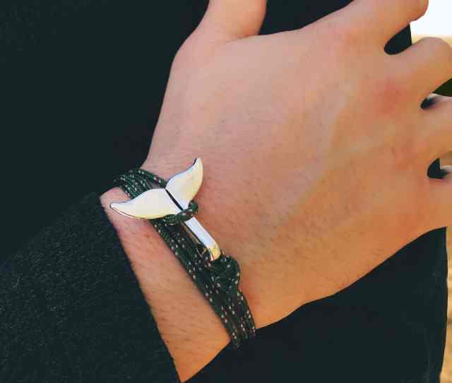 Whale Tail Bracelet Khaki
