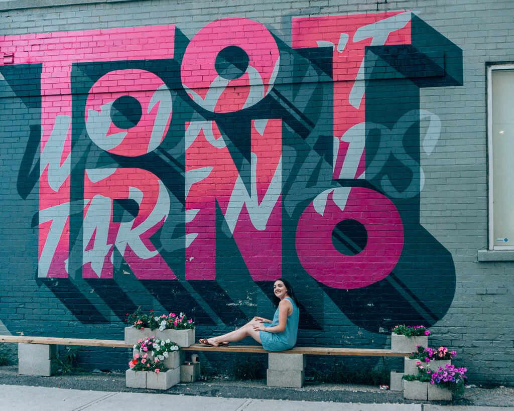 Toronto we don't take naps mural