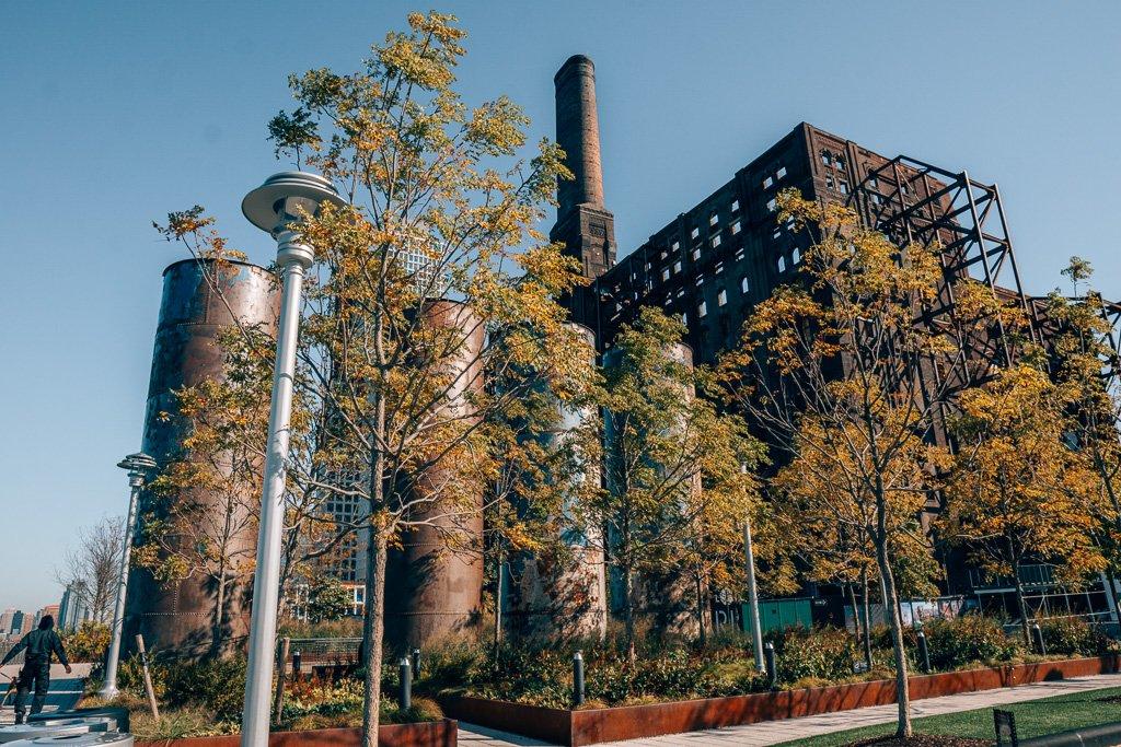 Old Sugar Refinery in Domino Park