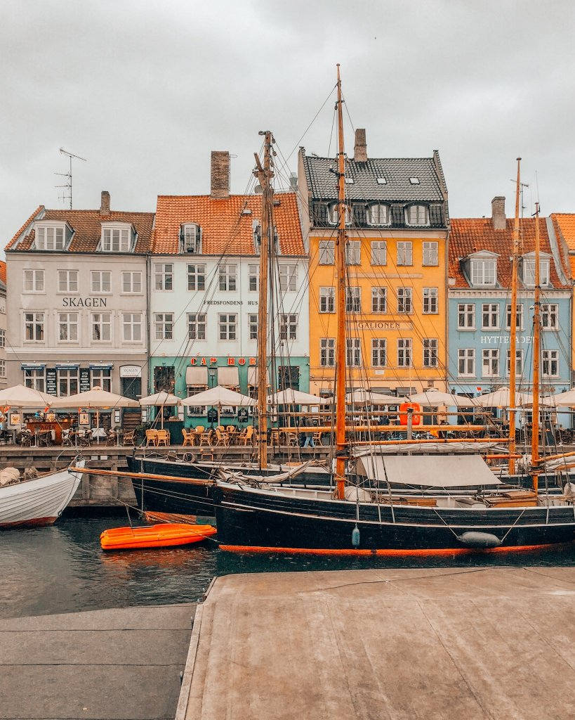 Colorful Nyhavn canal in Copenhagen