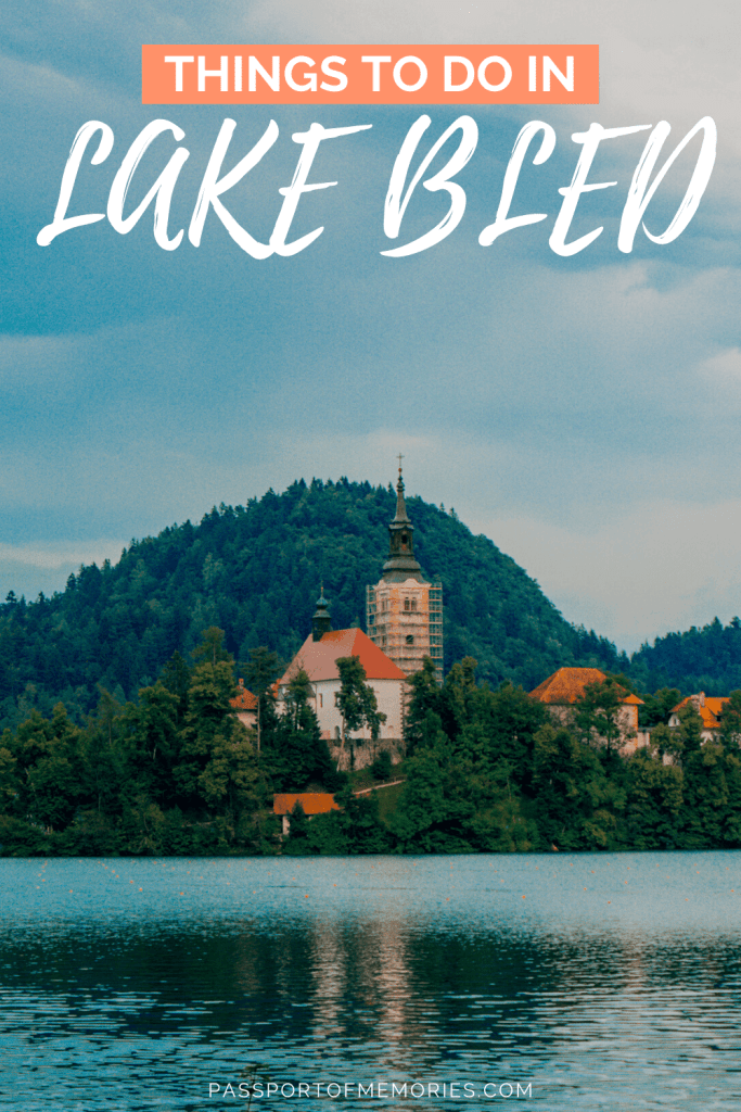 View of Lake Bled Church