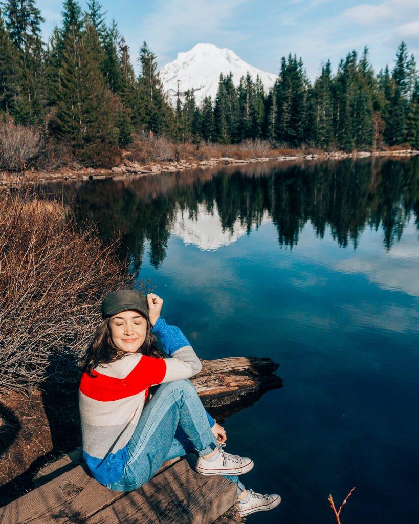 Mirror Lake Reflection of Mt. Hood
