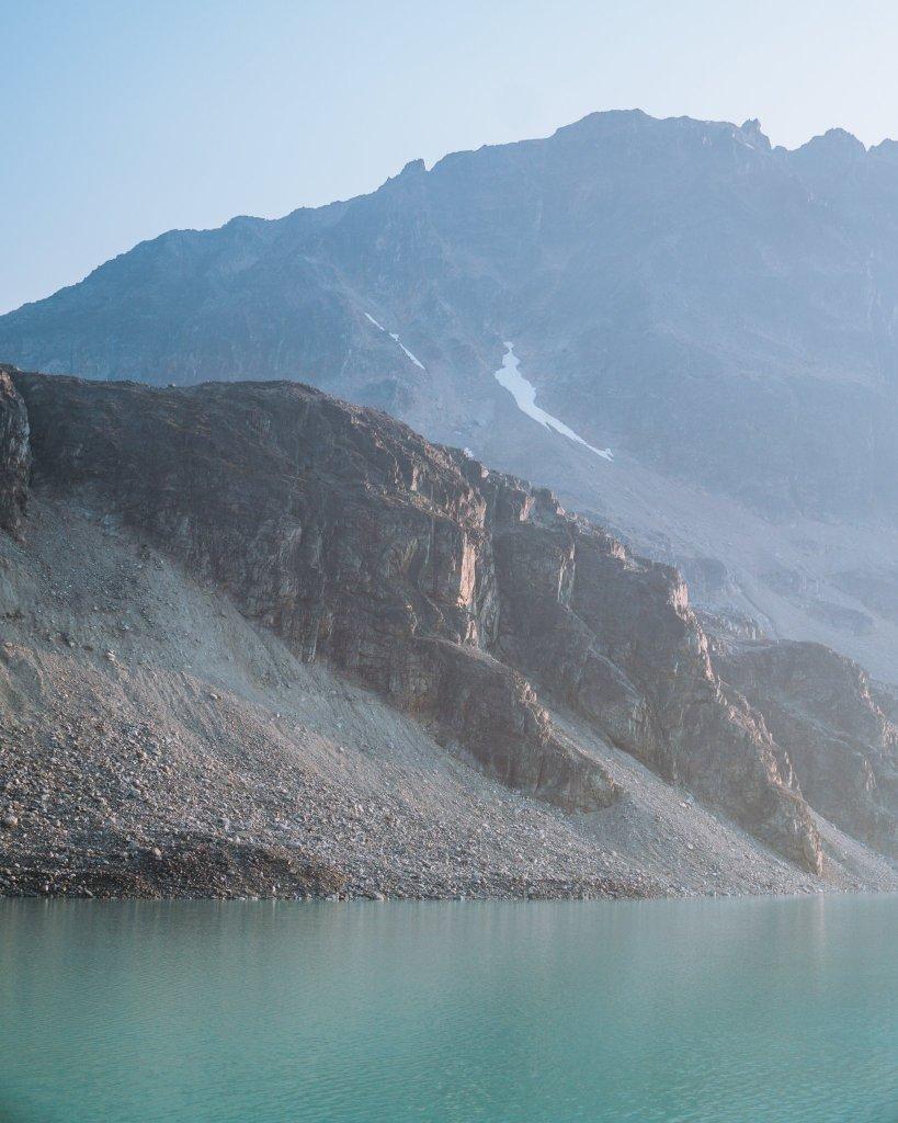 sunset at wedgemount lake