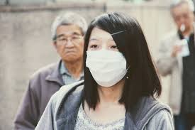 Asian woman with mask
