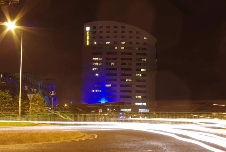 Clarion_Hotel_Limerick_Ireland_at_Night