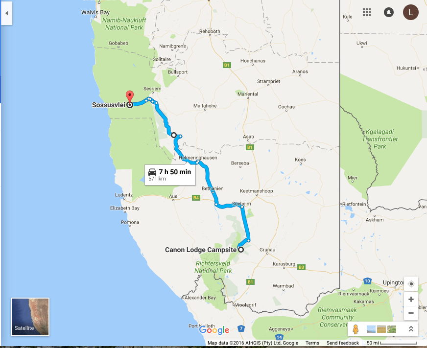 Day two of our African road trip: Fish River Canyon to Sossusvlei
