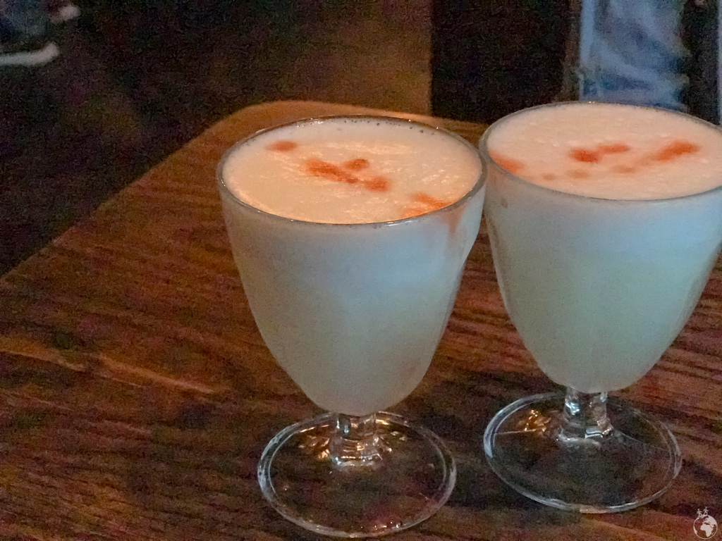 Two Pisco Sours at Charango, Cape Town, South Africa