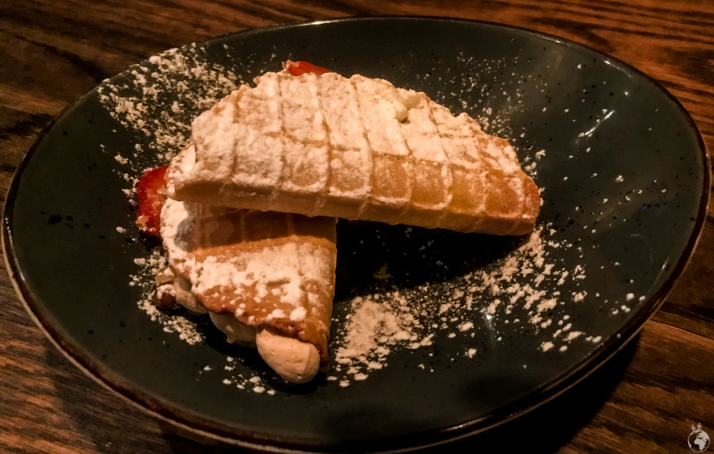 Dessert Tacos at the Peruvian restaurant Charango in Cape Town, South Africa