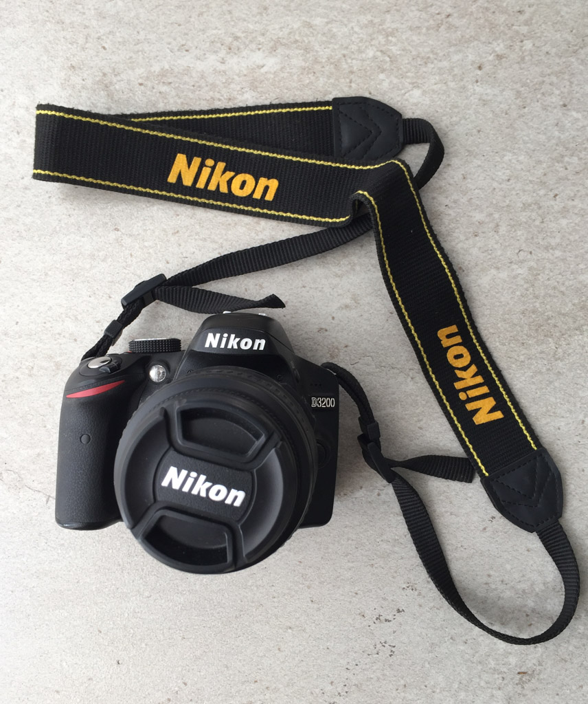 The Nikon D3200 DSLR is the most important aspect of our travel blog camera gear