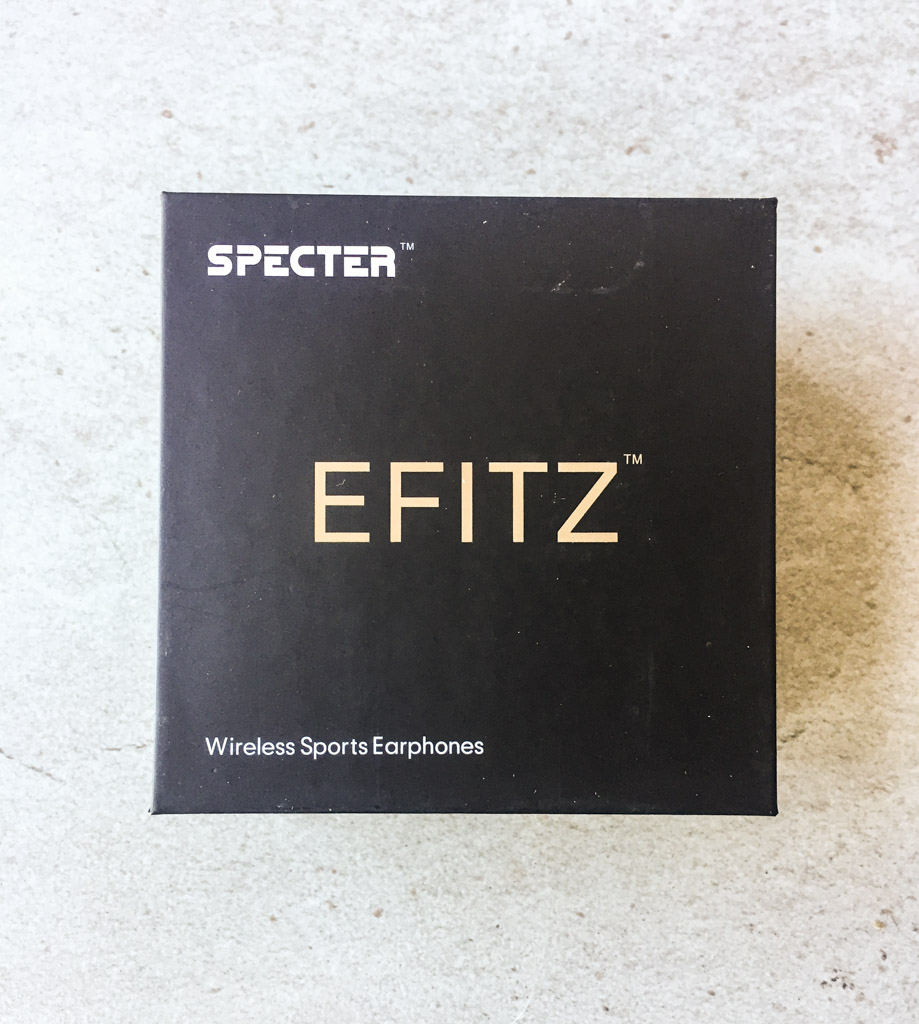 The box for the Specter Wireless Efitz Wireless Earbuds