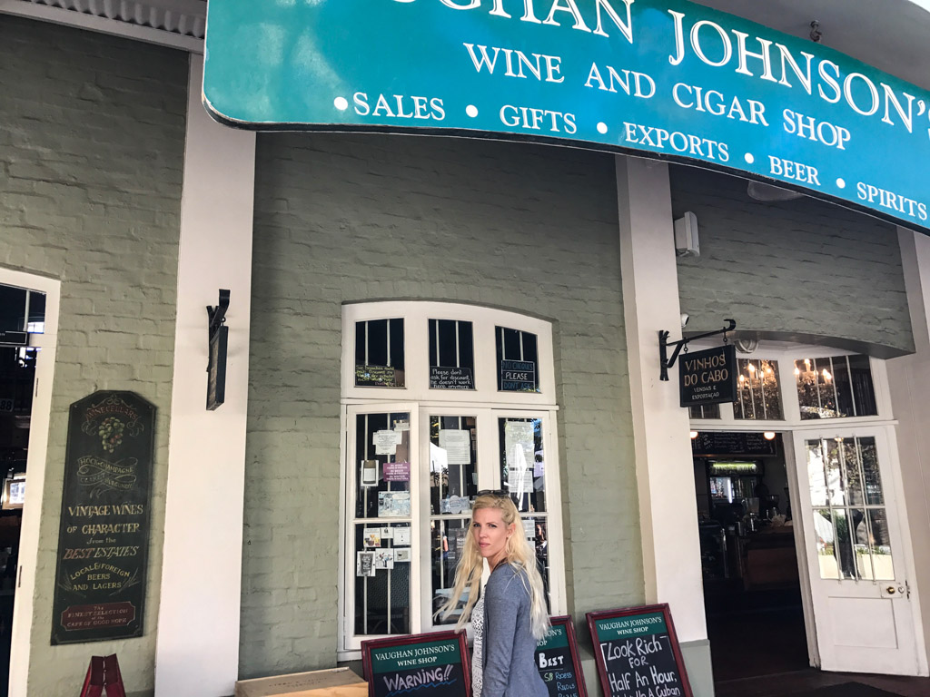 Vaughan Johnson Wine Shop at the V&A Waterfront in Cape Town, South Africa