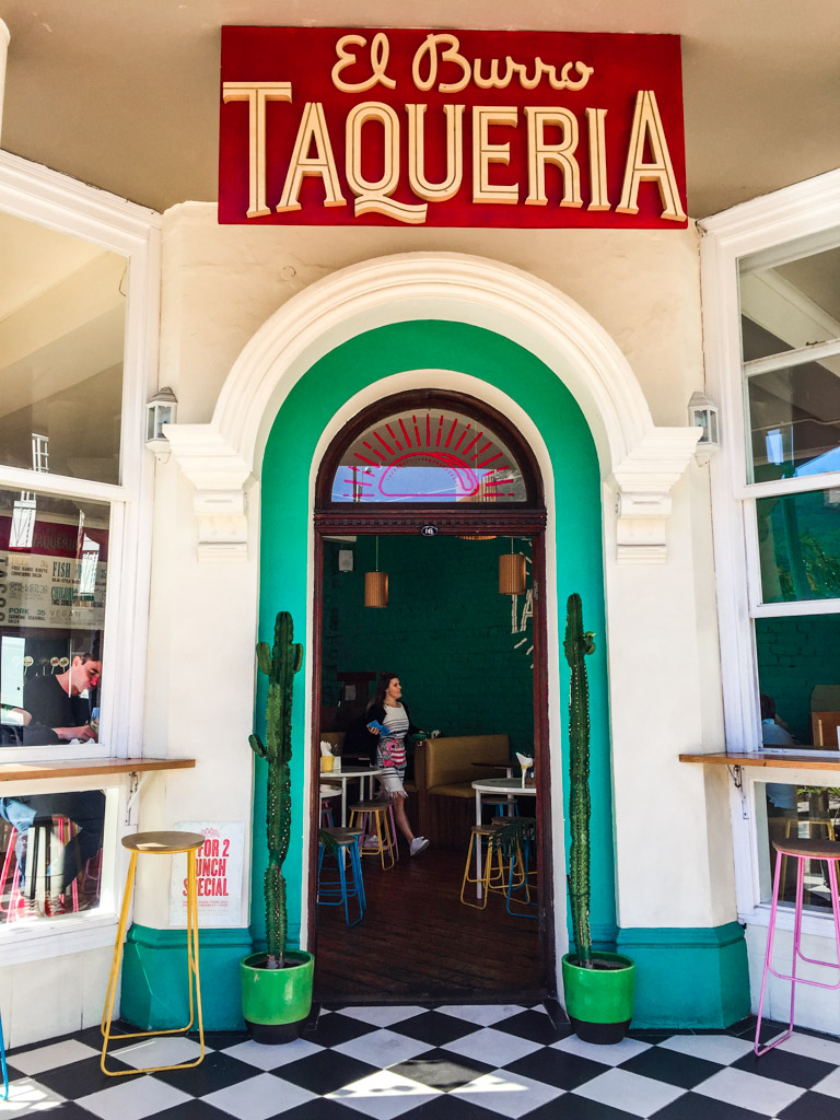 El Burro Taqueria is situated in a quaint building on the corner of Kloof Nek and Buitengracht in the trendy Gardens neighborhood of Cape Town
