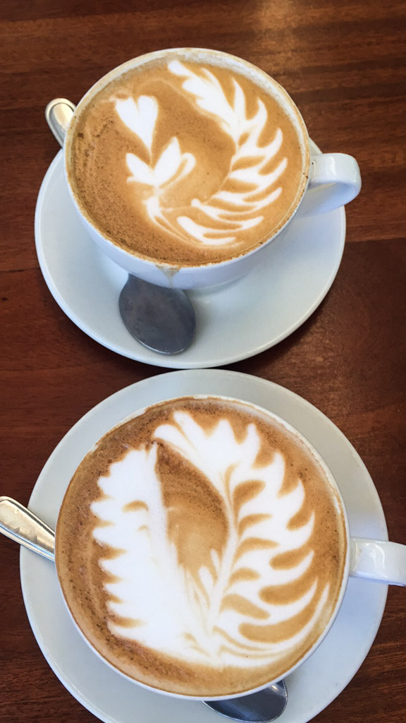 Our beautiful Cappuccinos at Peregrine Farm Stall