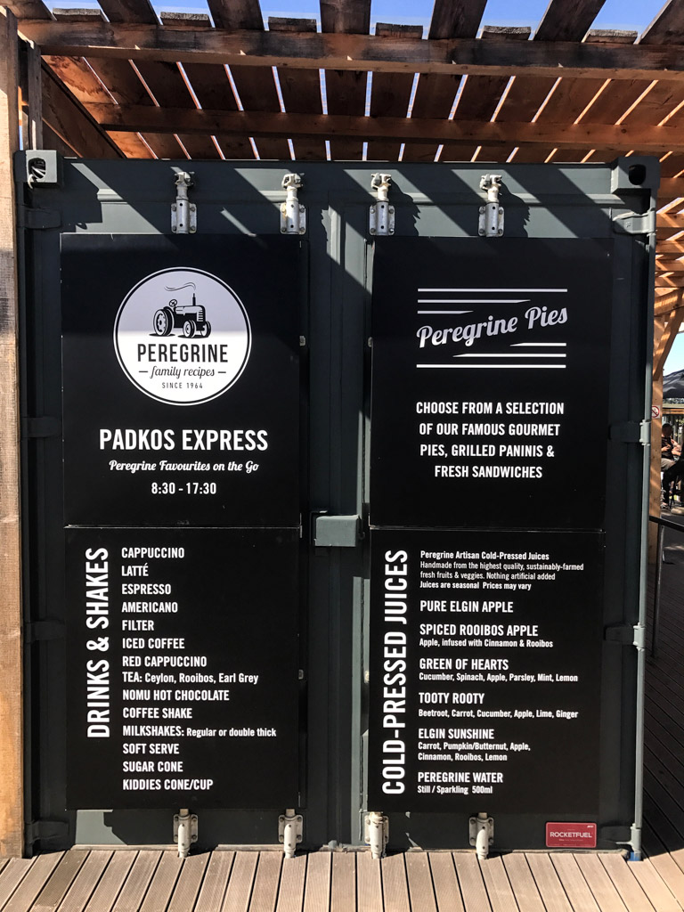 Peregrine has converted old shipping containers into an outdoor coffee bar