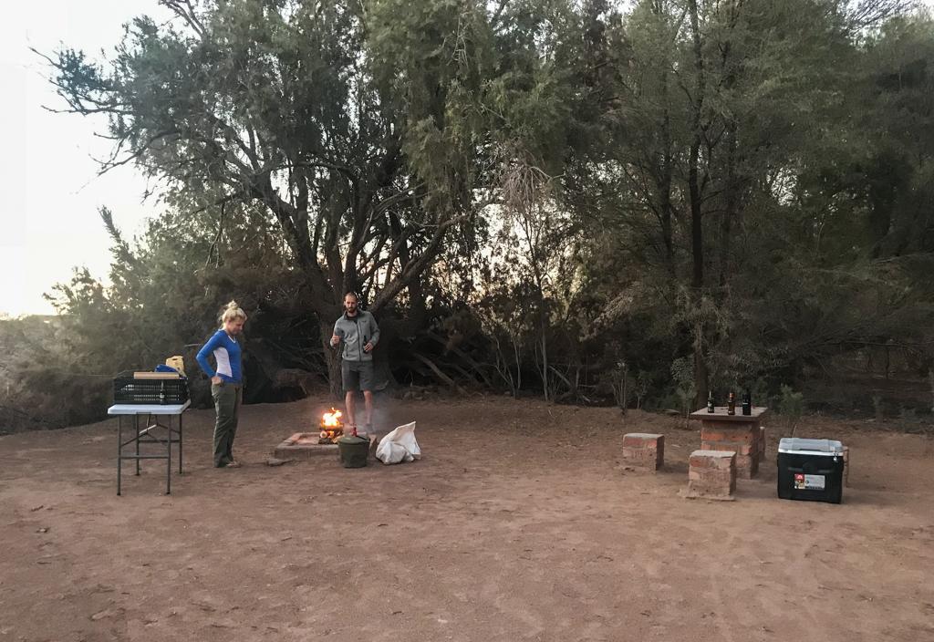 Hobas campsite dinner time!
