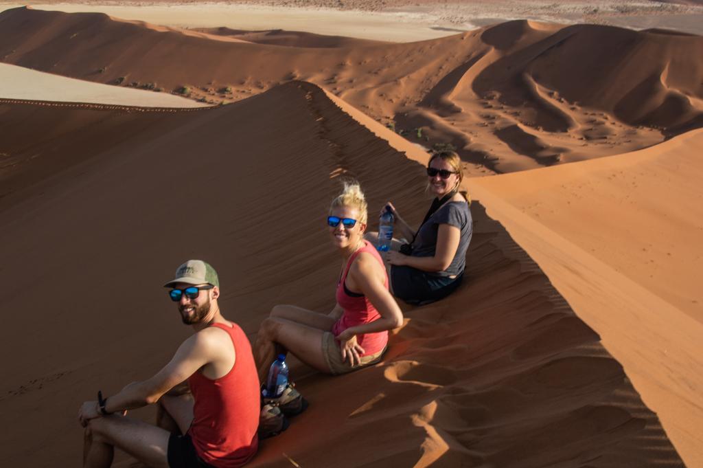 The Namibian Roadtrip crew taking a break.