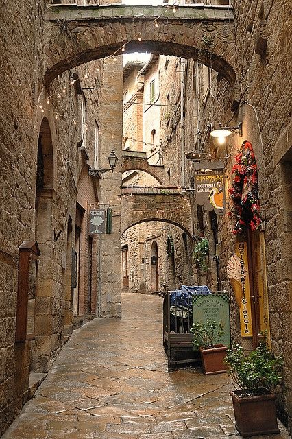 Photo of walk way in Volterra Italy | Day Trips from Florence