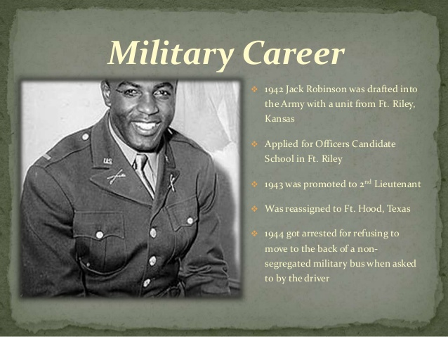 Relationship Between Sports and Politics | Military Career of Jackie Robinson