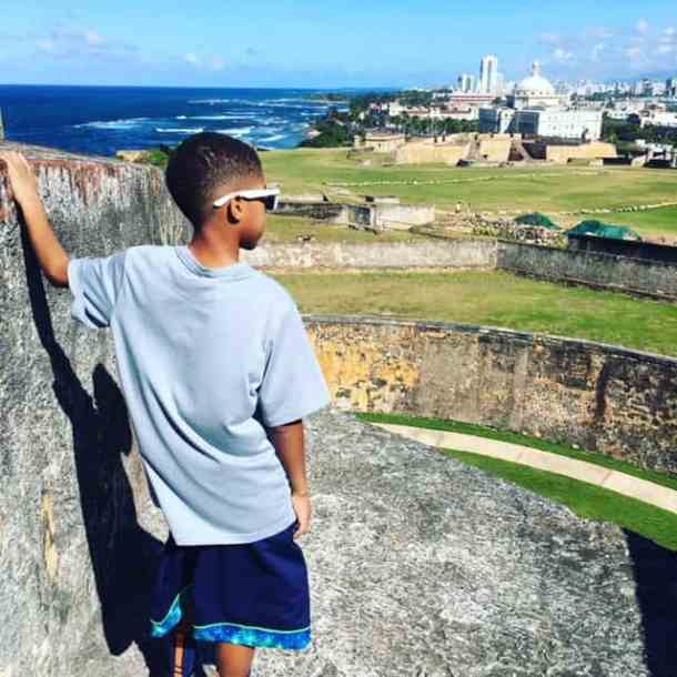 The view from Fort San Cristóbal of Puerto Rico with kids