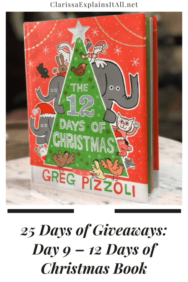 25 Days of Giveaways Day 9 12 Days of Christmas Book