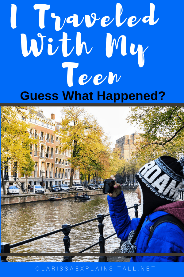 Have you ever traveled with only one of your kids? I recently traveled with my 14 year old son to Amsterdam for a few days, and guess what happened when I traveled with my teen?