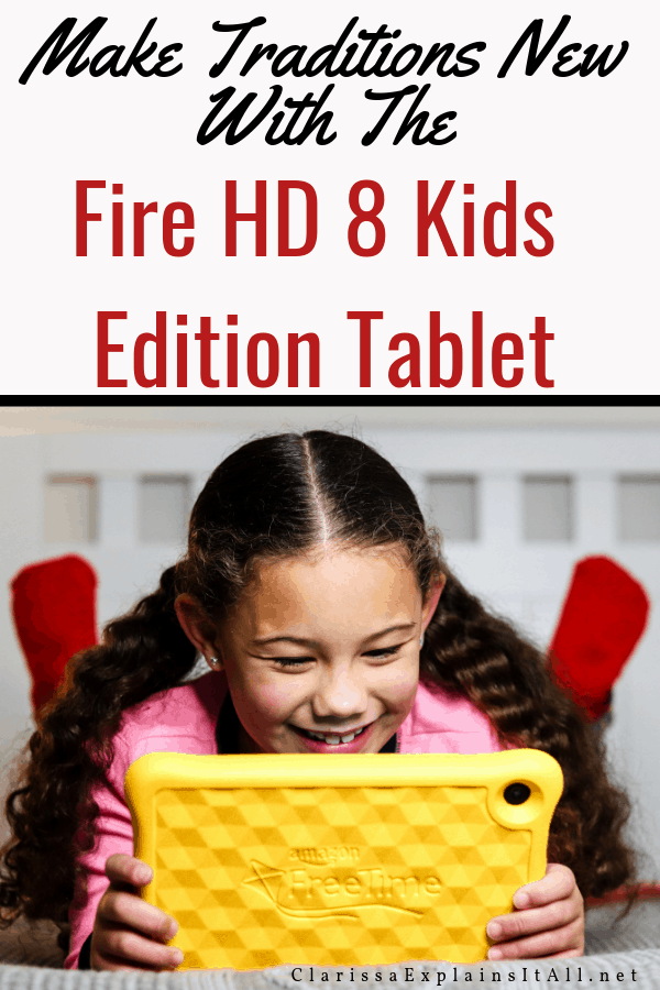 Want To Give Your Kids A Gift That Keeps On Giving?  (ad) Learn How You Can Do That Plus Make Some of Your Holiday Traditions New Again With The Amazon Fire HD 8 Kids Edition Tablet #AmazonKidsandFamily #IC