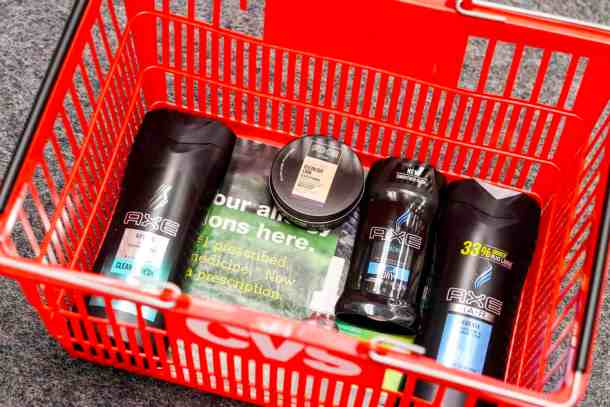 AXE products for teenage boys at CVS