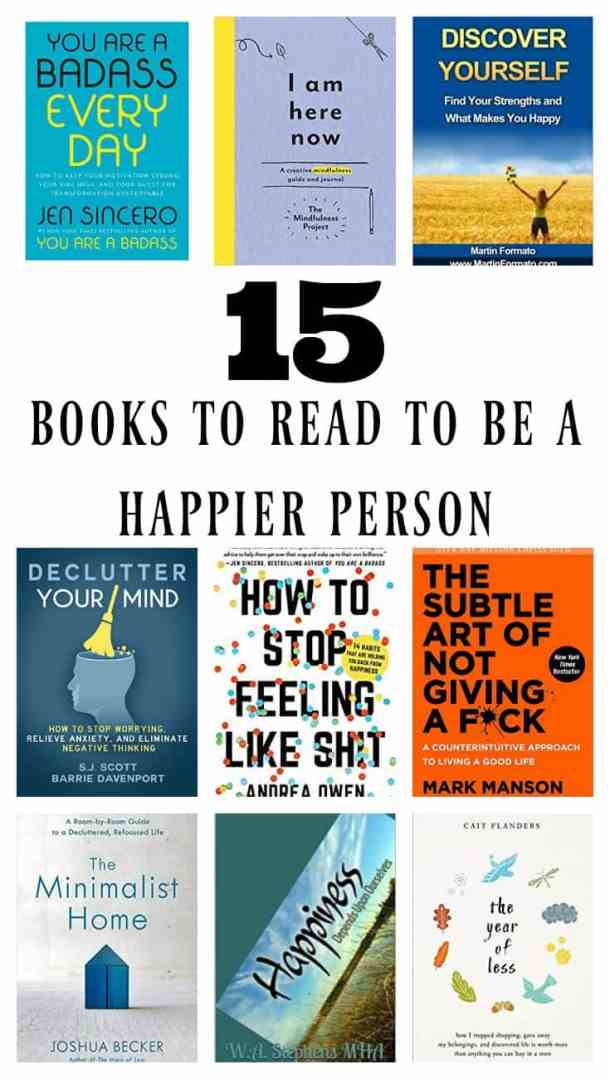 What kind of books do you like to read, romance, mystery, self help, biography? Here is a list of the 15 books people should read to learn how to be happy.