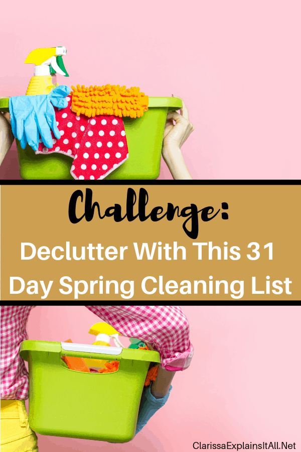Decluttering can feel overwhelming, so this year I am helping by giving you a fun challenge. Check out this 31 day spring cleaning list.