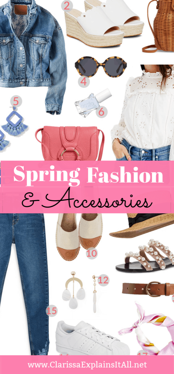 How do you know what new clothes to buy and where to shop for them at? I created a list of 18 fantastic spring fashion and accessories for women.