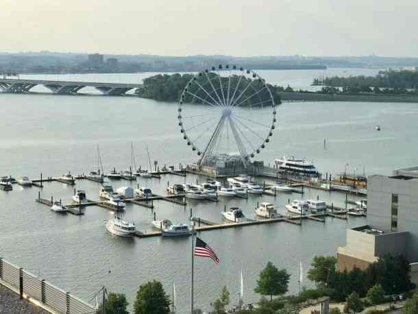 View of the Capital Wheel from Gaylord National SummerFest